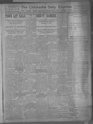 Primary view of object titled 'The Chickasha Daily Express (Chickasha, Indian Terr.), Vol. 10, No. 180, Ed. 1 Thursday, August 8, 1901'.