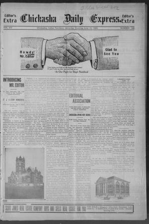 Primary view of object titled 'Chickasha Daily Express. (Chickasha, Indian Terr.), Vol. 14, No. 139, Ed. 1 Saturday, June 10, 1905'.