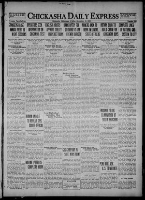 Primary view of object titled 'Chickasha Daily Express (Chickasha, Okla.), Vol. 22, No. 206, Ed. 1 Friday, December 16, 1921'.