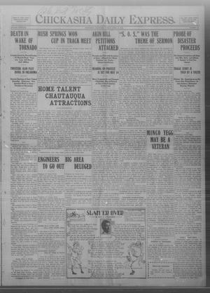 Primary view of object titled 'Chickasha Daily Express. (Chickasha, Okla.), Vol. THIRTEEN, No. 97, Ed. 1 Monday, April 22, 1912'.