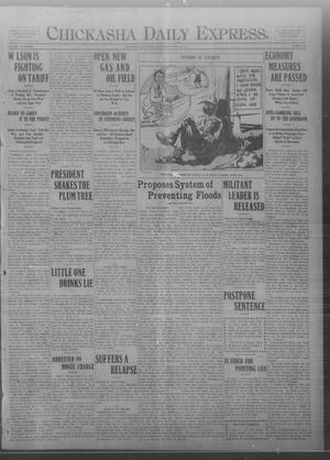Primary view of object titled 'Chickasha Daily Express. (Chickasha, Okla.), Vol. FOURTEEN, No. 88, Ed. 1 Saturday, April 12, 1913'.