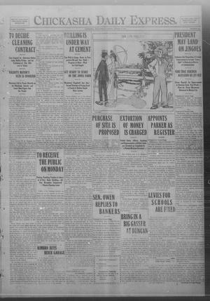 Primary view of object titled 'Chickasha Daily Express. (Chickasha, Okla.), Vol. FOURTEEN, No. 184, Ed. 1 Saturday, August 2, 1913'.