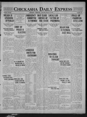Primary view of Chickasha Daily Express (Chickasha, Okla.), Vol. 20, No. 64, Ed. 1 Saturday, March 15, 1919