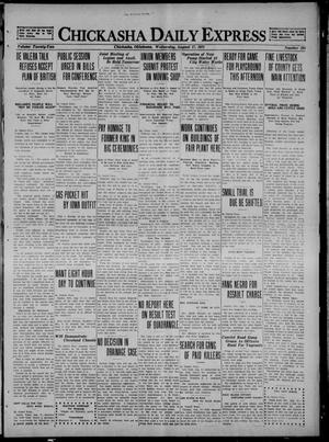 Primary view of object titled 'Chickasha Daily Express (Chickasha, Okla.), Vol. 22, No. 204, Ed. 1 Wednesday, August 17, 1921'.