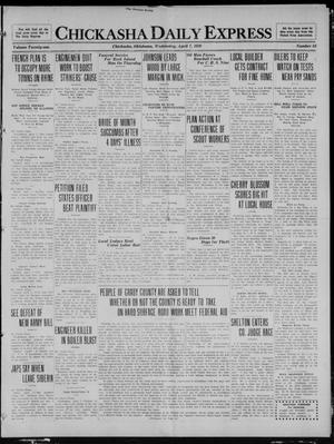 Primary view of object titled 'Chickasha Daily Express (Chickasha, Okla.), Vol. 21, No. 84, Ed. 1 Wednesday, April 7, 1920'.