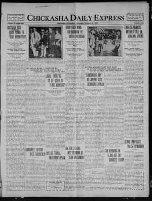 Primary view of object titled 'Chickasha Daily Express (Chickasha, Okla.), Vol. 21, No. 248, Ed. 1 Saturday, October 16, 1920'.