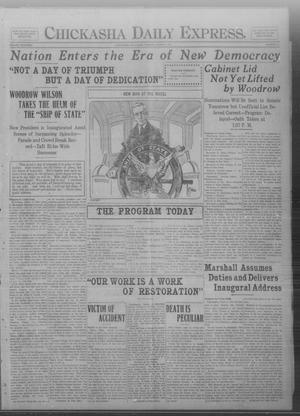 Primary view of object titled 'Chickasha Daily Express. (Chickasha, Okla.), Vol. FOURTEEN, No. 54, Ed. 1 Tuesday, March 4, 1913'.