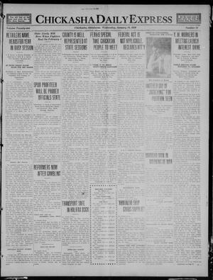 Primary view of object titled 'Chickasha Daily Express (Chickasha, Okla.), Vol. 21, No. 24, Ed. 1 Wednesday, January 28, 1920'.