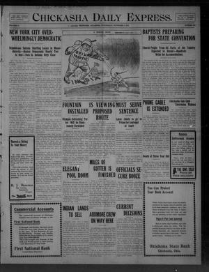 Primary view of Chickasha Daily Express. (Chickasha, Okla.), Vol. 10, No. 255, Ed. 1 Wednesday, November 3, 1909