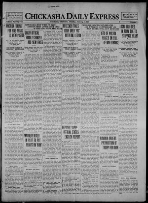 Primary view of object titled 'Chickasha Daily Express (Chickasha, Okla.), Vol. 22, No. 2, Ed. 1 Monday, January 3, 1921'.