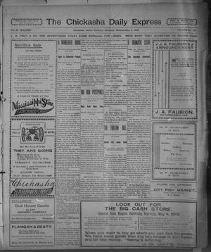 Primary view of object titled 'The Chickasha Daily Express. (Chickasha, Indian Terr.), Vol. 11, No. 112, Ed. 1 Saturday, May 3, 1902'.