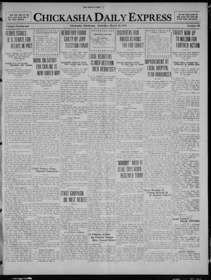 Primary view of object titled 'Chickasha Daily Express (Chickasha, Okla.), Vol. 21, No. 69, Ed. 1 Saturday, March 20, 1920'.