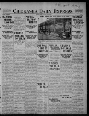 Primary view of object titled 'Chickasha Daily Express (Chickasha, Okla.), Vol. SEVENTEEN, No. 22, Ed. 1 Wednesday, January 26, 1916'.