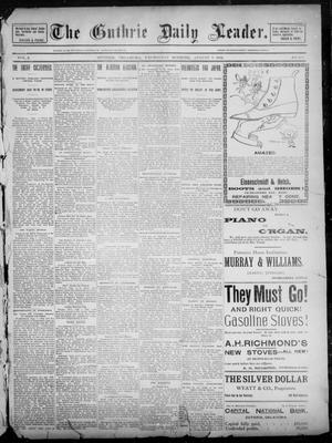 Primary view of object titled 'The Guthrie Daily Leader. (Guthrie, Okla.), Vol. 2, No. 208, Ed. 1, Wednesday, August 8, 1894'.
