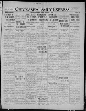 Primary view of object titled 'Chickasha Daily Express (Chickasha, Okla.), Vol. 21, No. 207, Ed. 1 Monday, December 27, 1920'.
