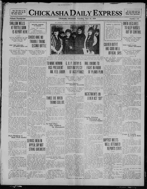 Primary view of object titled 'Chickasha Daily Express (Chickasha, Okla.), Vol. 21, No. 143, Ed. 1 Tuesday, June 15, 1920'.