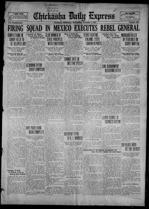 Primary view of object titled 'Chickasha Daily Express (Chickasha, Okla.), Vol. 23, No. 169, Ed. 1 Wednesday, November 1, 1922'.