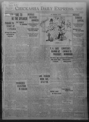 Primary view of object titled 'Chickasha Daily Express. (Chickasha, Okla.), Vol. THIRTEEN, No. 254, Ed. 1 Friday, November 1, 1912'.