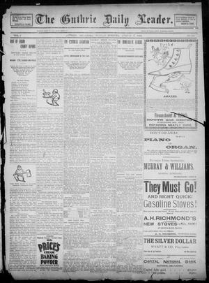 Primary view of object titled 'The Guthrie Daily Leader. (Guthrie, Okla.), Vol. 2, No. 218, Ed. 1, Sunday, August 19, 1894'.