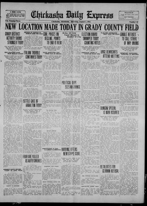 Primary view of object titled 'Chickasha Daily Express (Chickasha, Okla.), Vol. 23, No. 95, Ed. 1 Saturday, August 5, 1922'.