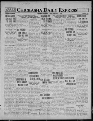 Primary view of object titled 'Chickasha Daily Express (Chickasha, Okla.), Vol. 21, No. 212, Ed. 1 Friday, September 3, 1920'.