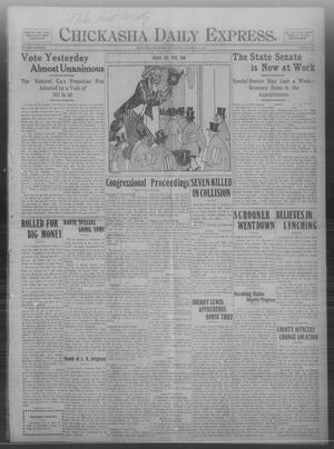 Primary view of object titled 'Chickasha Daily Express. (Chickasha, Okla.), Vol. THIRTEEN, No. 281, Ed. 1 Wednesday, December 4, 1912'.