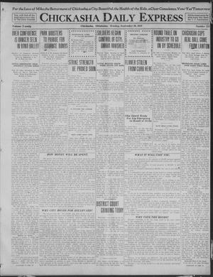 Primary view of object titled 'Chickasha Daily Express (Chickasha, Okla.), Vol. 20, No. 231, Ed. 1 Monday, September 29, 1919'.