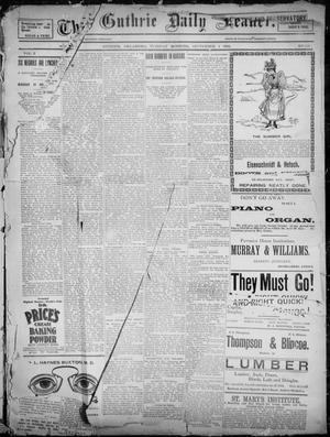 Primary view of object titled 'The Guthrie Daily Leader. (Guthrie, Okla.), Vol. 2, No. 231, Ed. 1, Tuesday, September 4, 1894'.