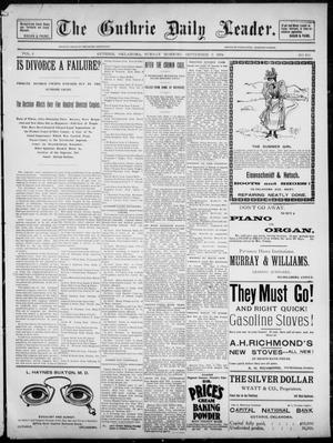 Primary view of object titled 'The Guthrie Daily Leader. (Guthrie, Okla.), Vol. 2, No. 236, Ed. 1, Sunday, September 9, 1894'.