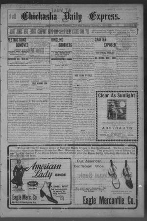 Primary view of object titled 'Chickasha Daily Express. (Chickasha, Indian Terr.), No. 237, Ed. 1 Thursday, October 5, 1905'.