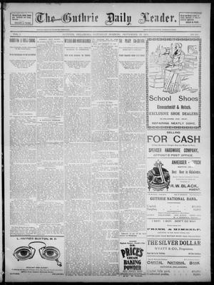 Primary view of object titled 'The Guthrie Daily Leader. (Guthrie, Okla.), Vol. 3, No. 255, Ed. 1, Saturday, September 29, 1894'.
