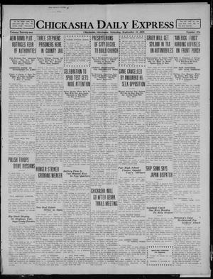 Primary view of object titled 'Chickasha Daily Express (Chickasha, Okla.), Vol. 21, No. 224, Ed. 1 Saturday, September 18, 1920'.