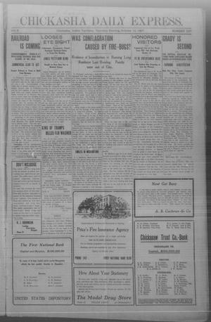 Primary view of object titled 'Chickasha Daily Express. (Chickasha, Indian Terr.), Vol. 8, No. 237, Ed. 1 Thursday, October 10, 1907'.