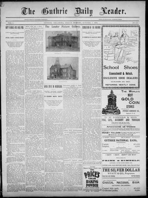 Primary view of object titled 'The Guthrie Daily Leader. (Guthrie, Okla.), Vol. 3, No. 260, Ed. 1, Friday, October 5, 1894'.
