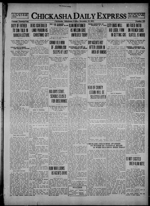 Primary view of object titled 'Chickasha Daily Express (Chickasha, Okla.), Vol. 22, No. 212, Ed. 1 Friday, December 23, 1921'.