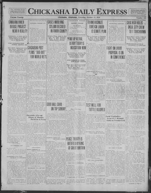 Primary view of object titled 'Chickasha Daily Express (Chickasha, Okla.), Vol. 20, No. 242, Ed. 1 Saturday, October 11, 1919'.