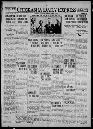 Primary view of object titled 'Chickasha Daily Express (Chickasha, Okla.), Vol. 22, No. 195, Ed. 1 Saturday, August 6, 1921'.