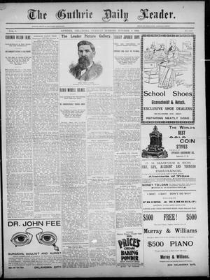 Primary view of object titled 'The Guthrie Daily Leader. (Guthrie, Okla.), Vol. 3, No. 263, Ed. 1, Tuesday, October 9, 1894'.