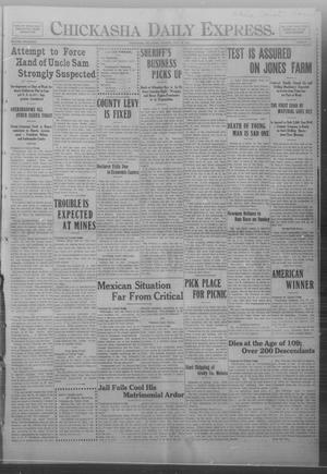 Primary view of object titled 'Chickasha Daily Express. (Chickasha, Okla.), Vol. FOURTEEN, No. 179, Ed. 1 Monday, July 28, 1913'.