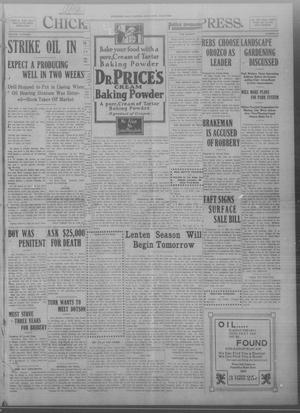 Primary view of object titled 'Chickasha Daily Express. (Chickasha, Okla.), Vol. THIRTEEN, No. 44, Ed. 1 Tuesday, February 20, 1912'.