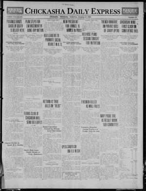 Primary view of object titled 'Chickasha Daily Express (Chickasha, Okla.), Vol. 21, No. 15, Ed. 1 Saturday, January 17, 1920'.