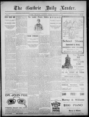 Primary view of object titled 'The Guthrie Daily Leader. (Guthrie, Okla.), Vol. 3, No. 245, Ed. 1, Saturday, October 20, 1894'.