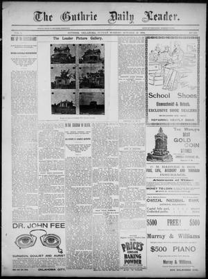 Primary view of object titled 'The Guthrie Daily Leader. (Guthrie, Okla.), Vol. 3, No. 246, Ed. 1, Sunday, October 21, 1894'.
