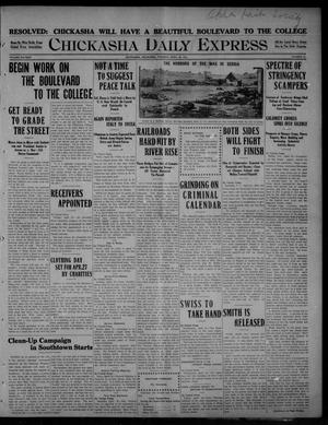 Primary view of object titled 'Chickasha Daily Express (Chickasha, Okla.), Vol. SIXTEEN, No. 94, Ed. 1 Tuesday, April 20, 1915'.
