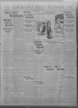 Primary view of object titled 'Chickasha Daily Express. (Chickasha, Okla.), Vol. THIRTEEN, No. 238, Ed. 1 Tuesday, October 8, 1912'.