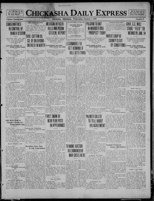 Primary view of object titled 'Chickasha Daily Express (Chickasha, Okla.), Vol. 21, No. 6, Ed. 1 Wednesday, January 7, 1920'.