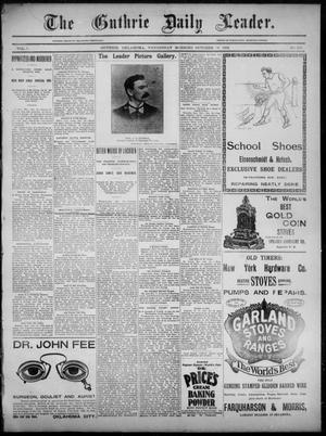 Primary view of object titled 'The Guthrie Daily Leader. (Guthrie, Okla.), Vol. 3, No. 259, Ed. 1, Wednesday, October 31, 1894'.