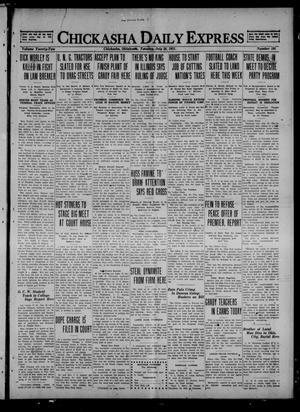 Primary view of object titled 'Chickasha Daily Express (Chickasha, Okla.), Vol. 22, No. 185, Ed. 1 Tuesday, July 26, 1921'.