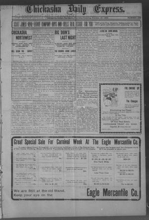 Primary view of object titled 'Chickasha Daily Express. (Chickasha, Indian Terr.), No. 249, Ed. 1 Thursday, October 19, 1905'.