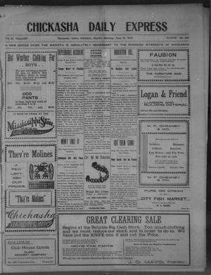 Primary view of object titled 'Chickasha Daily Express (Chickasha, Indian Terr.), Vol. 11, No. 148, Ed. 1 Sunday, June 15, 1902'.